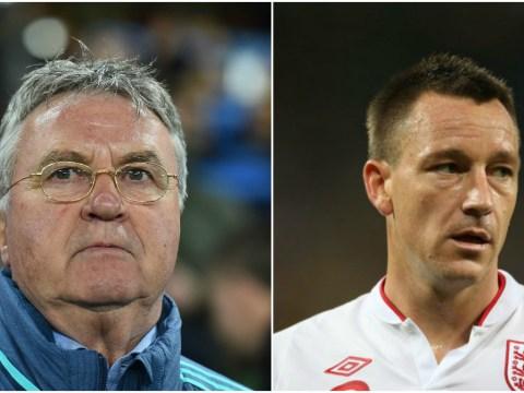 Chelsea boss Guus Hiddink downplays talk of England return for John Terry