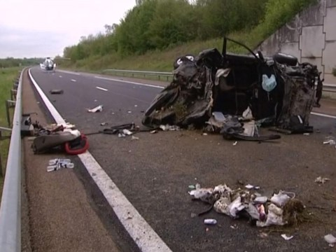 British father who died in horror crash with two children in France has been named