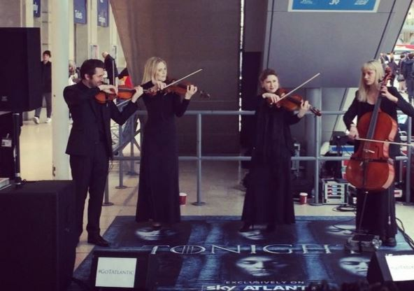 WATCH: String quartet perform amazing rendition of Game of Thrones theme tune at busy station