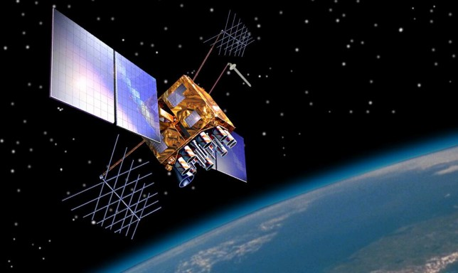 Artist's impression of a GPS-IIRM satellite in orbit (Picture: US Government)