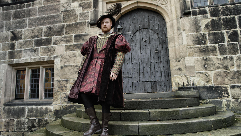 Charlie ClementsPortrait shot of young Henry VIII (actor) Hoghton Tower, Hoghton, North Preston PR5 0SH