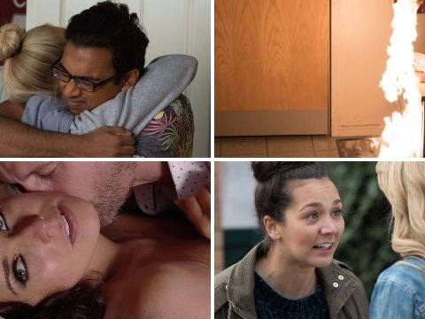 12 soap spoiler pictures: Emmerdale fire, Coronation Street cheat, EastEnders exit, Hollyoaks mistake