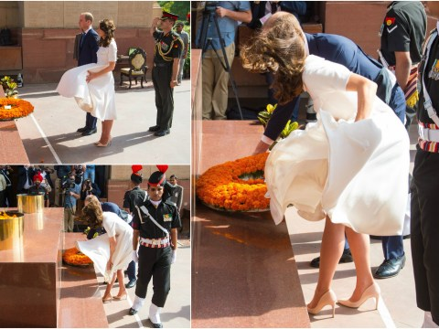 Kate Middleton had a Marilyn Monroe moment in India