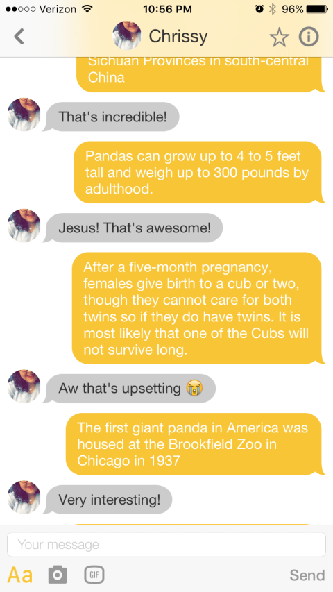 Imgur user msang12321 tries to woo girl on Tinder by sending