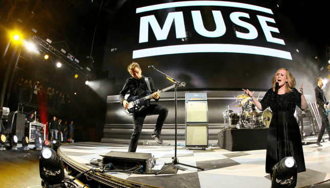 Muse has invited Adele onstage at Glastonbury (Picture: REX Features/Getty - Credit: Mylo)