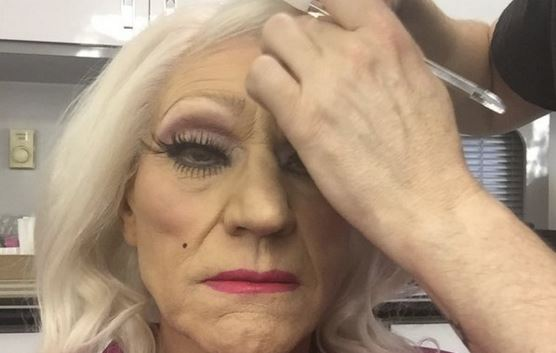 Do you know who this British acting legend dressed as a woman is?