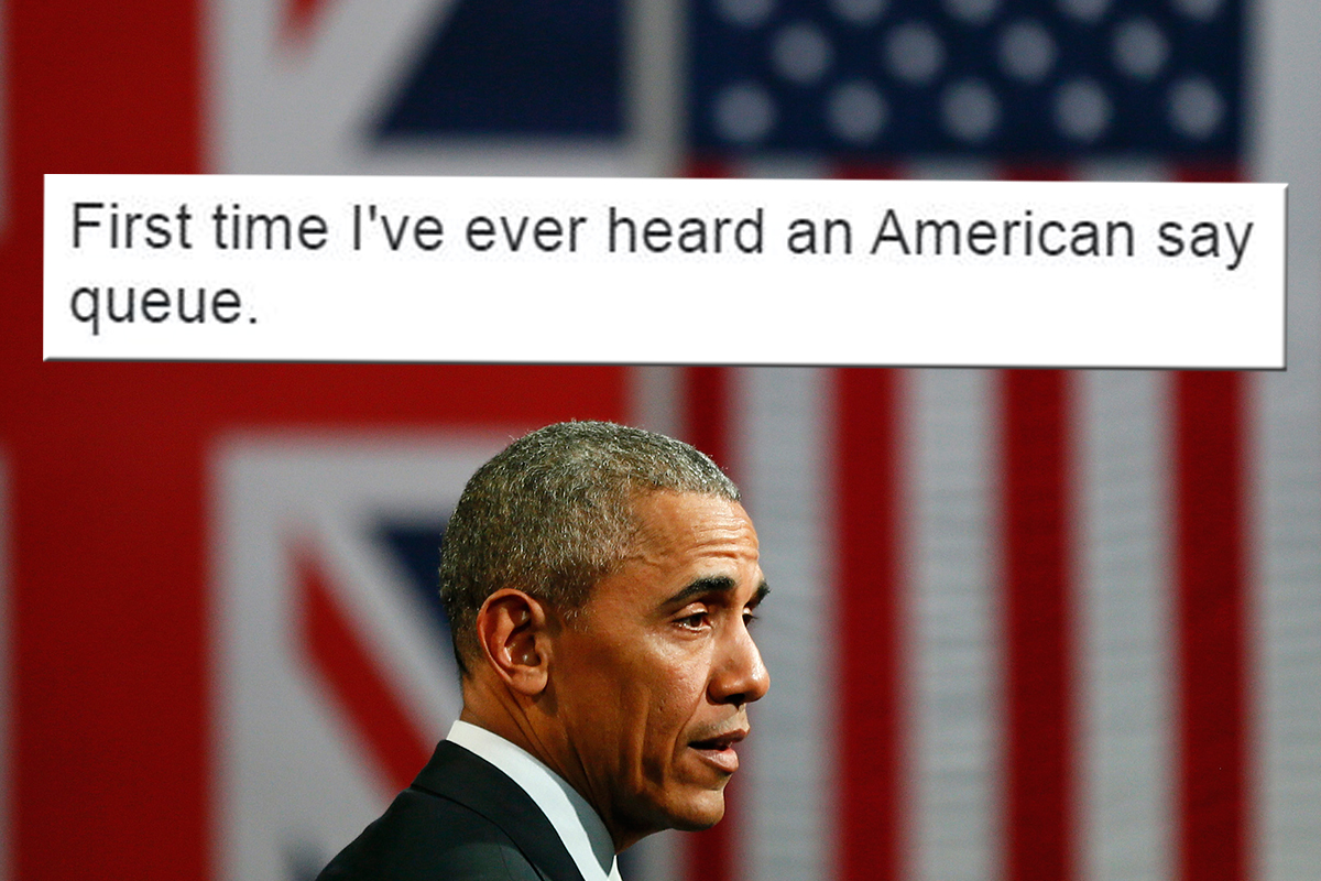 Obama uses the word 'queue' in Brexit speech and Brits become suspicious