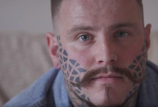 face tattoo 26