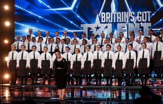 A THAMES/SYCO TV PRODUCTION FOR ITV UNDER STRICT EMBARGO UNTIL 00.01 ON SATURDAY 23 APRIL 2016. PICTURE SHOWS: PRESENTATION SHCOOL CHOIR TX03 on Saturday 23 APRIL 2016 BRITAIN'S GOT TALENT coming soon to ITV and ITV2 This Spring, the one and only BritainÕs Got Talent is back and celebrating 10 triumphant years of talent. The dream team of judges - Simon Cowell, Amanda Holden, Alesha Dixon and David Walliams - once again take their places on the panel, in search of the most astonishing and exhilarating talent around. They are joined by the nationÕs favourite TV duo Ant & Dec, who will be on hand to encourage, congratulate and commiserate the variety of acts whilst guiding the audience through the auditions. With thousands of people applying, viewers can expect to be amazed and astounded by the remarkable line-up of acts competing to be crowned this yearÕs winner and secure an incredible £250,000 and the opportunity to perform at the Royal Variety Performance 2016. The past decade has seen some of the most exciting and entertaining winners from Paul Potts to Diversity, Ashleigh & Pudsey to Attraction. And itÕs not only the winners who have delivered some of our most memorable moments on television; there was singer Susan Boyle, comedian Jack Carroll, magician Darcy Oake and of course, the dog that hypnotised Simon - to name a few. This yearÕs series is sure to provide many more must see moments.