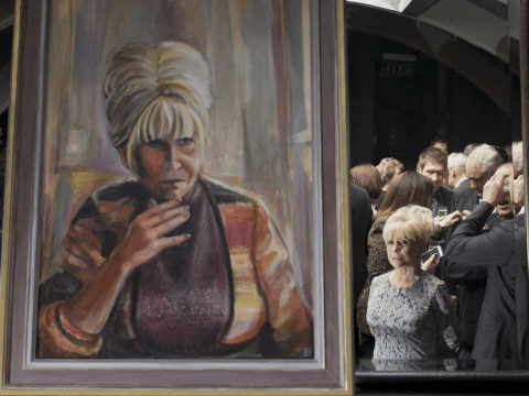 Portrait of Dame Barbara Windsor is unveiled and she clearly flipping hates it