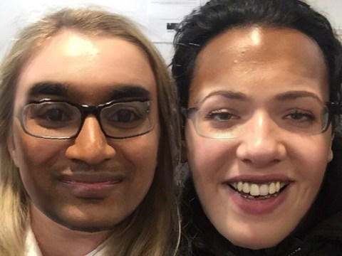 Can you guess which EastEnders stars are in this hilarious face swap?