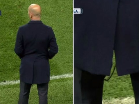 Zinedine Zidane rips his trousers AGAIN during Manchester City v Real Madrid