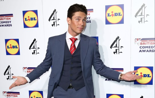 LONDON, ENGLAND - DECEMBER 16: Joey Essex attends the British Comedy Awards at Fountain Studios on December 16, 2014 in London, England. (Photo by Tim P. Whitby/Getty Images)