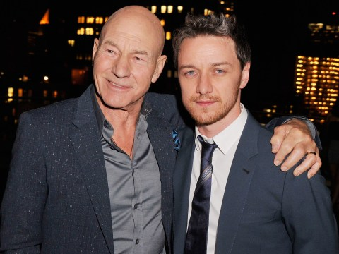 Sir Patrick Stewart has something of James McAvoy's locked up in a safe