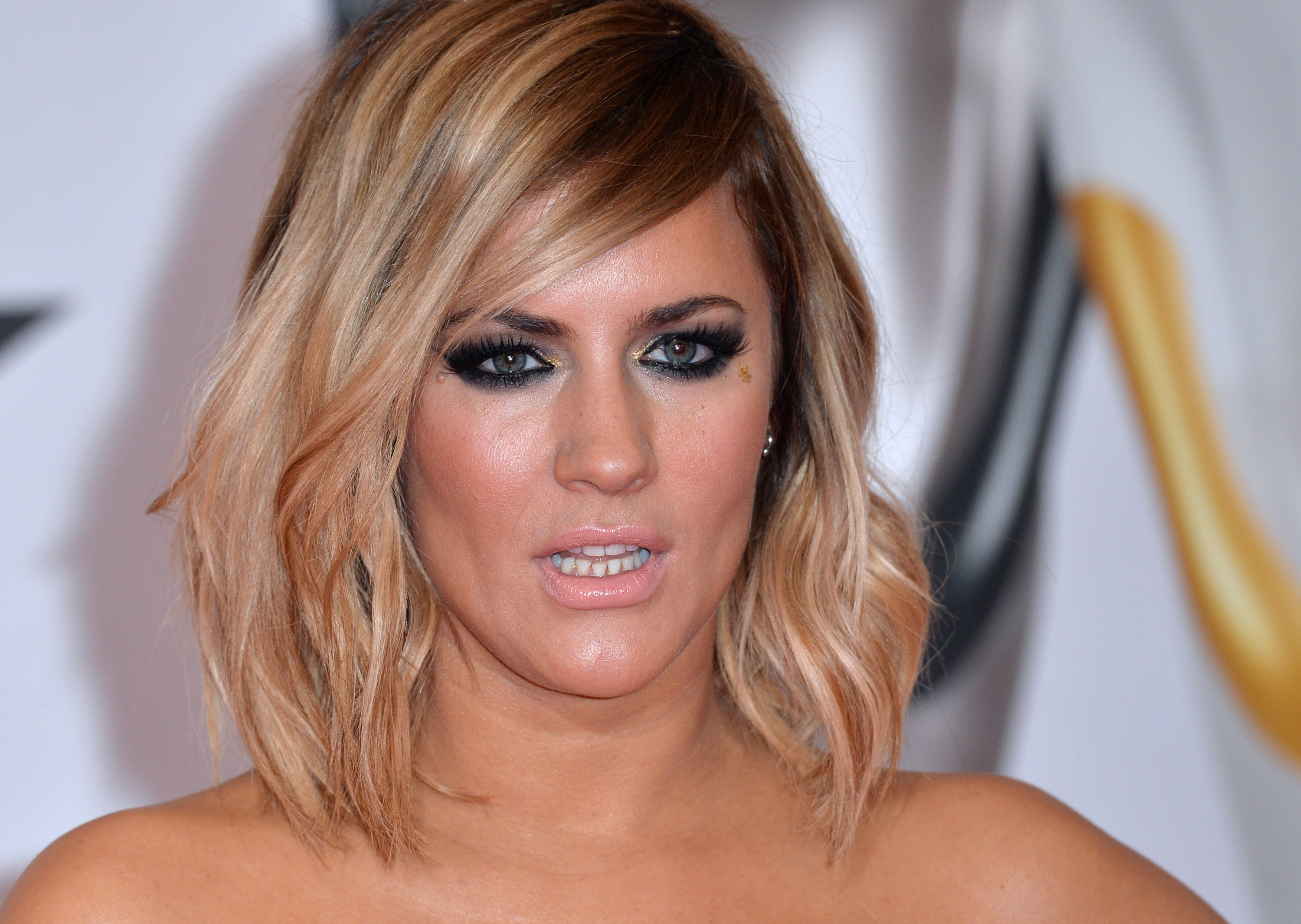 LONDON, ENGLAND - FEBRUARY 24: Caroline Flack attends the BRIT Awards 2016 at The O2 Arena on February 24, 2016 in London, England. (Photo by Anthony Harvey/Getty Images)