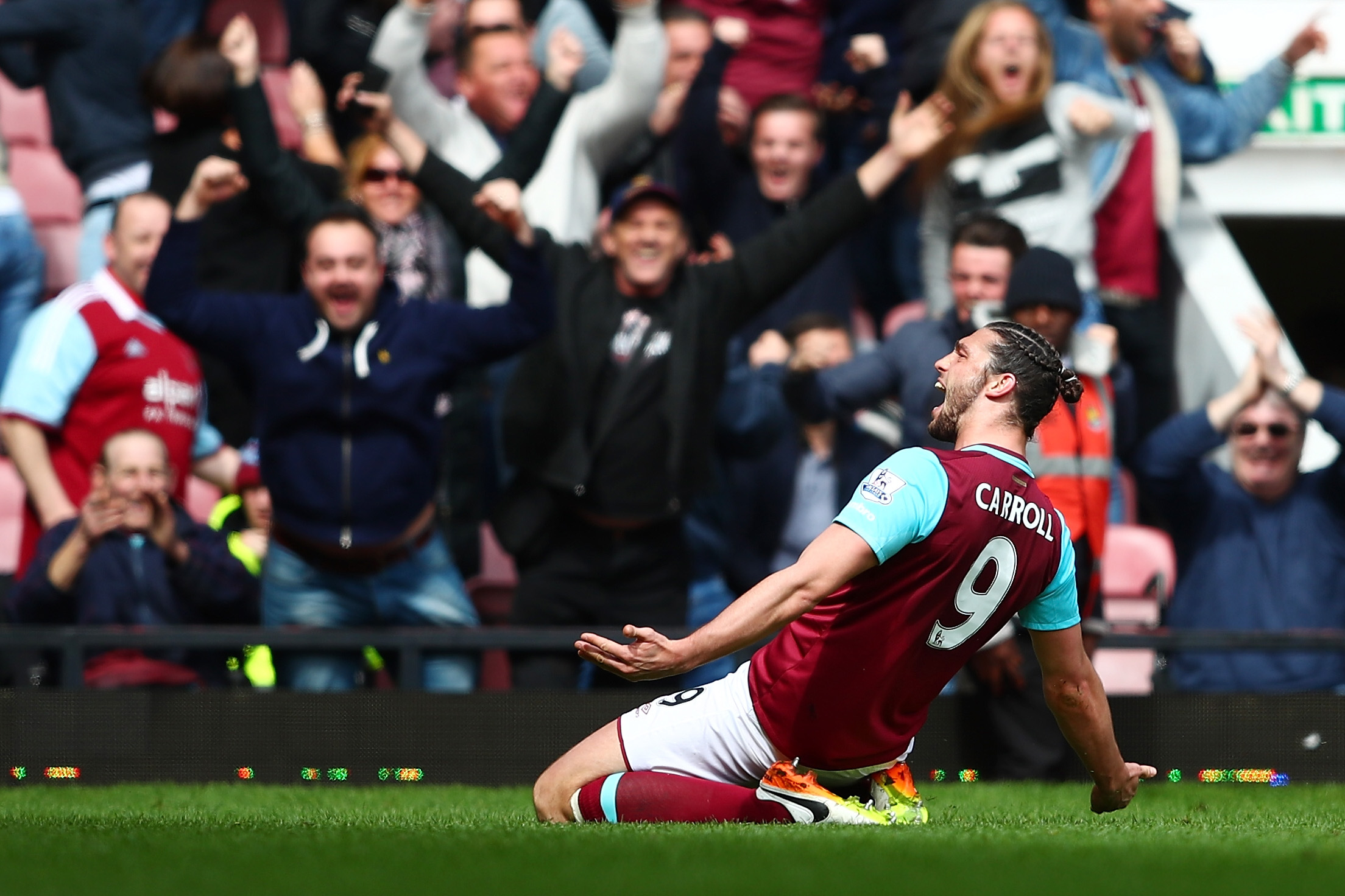 West Ham striker Andy Carroll reveals his girlfriend tried to sell Arsenal match ball
