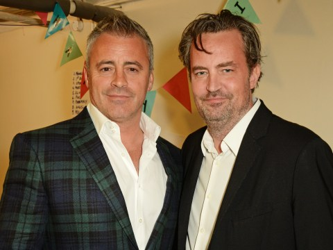 Friends reunited as Matt LeBlanc turns up to support Matthew Perry at West End play in London