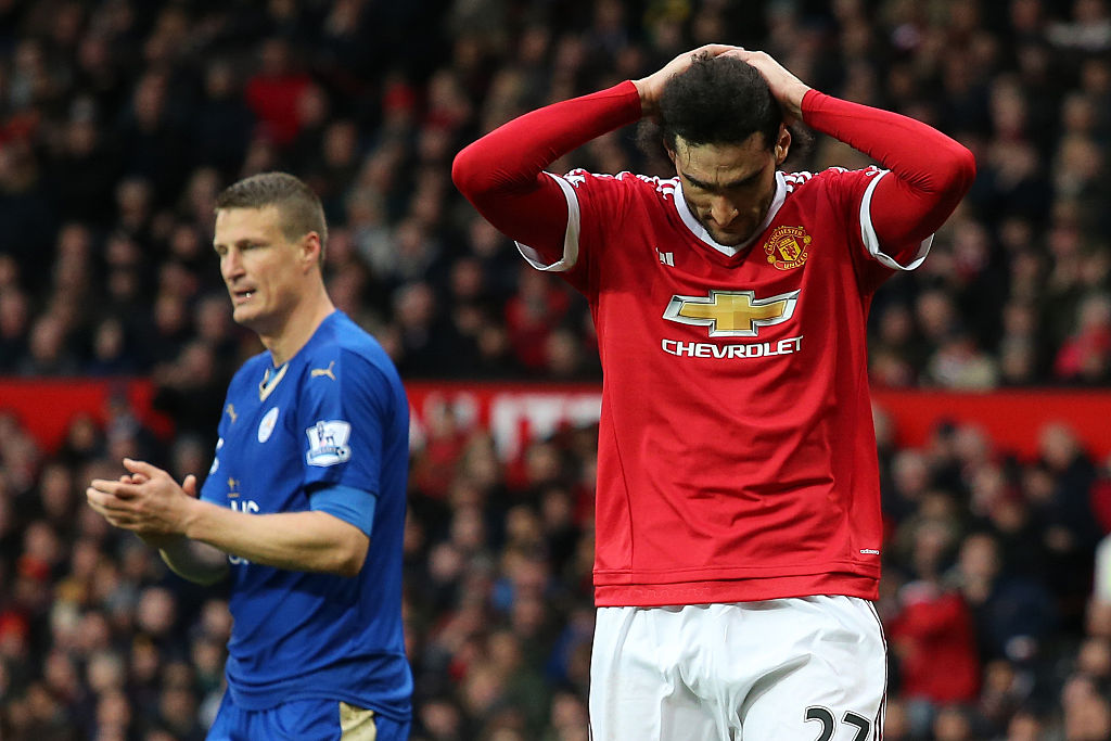 Manchester United's Marouane Fellaini and Leicester City's Robert Huth charged with violent conduct
