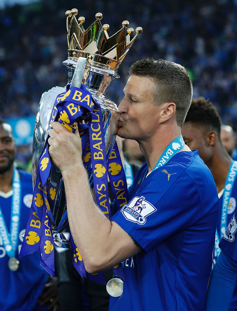 Robert Huth goes full John Terry by celebrating title victory in full Leicester City kit