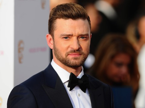 Justin Timberlake hits a golf ball straight at his caddy in daring sport stunt