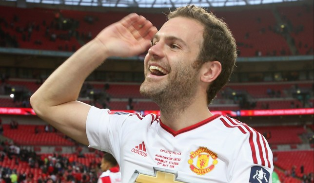 LONDON, ENGLAND - MAY 21: Juan Mata of Manchester United celebrates after The Emirates FA Cup final match between Manchester United and Crystal Palace at Wembley Stadium on May 21, 2016 in London, England. (Photo by Tom Purslow/Man Utd via Getty Images)