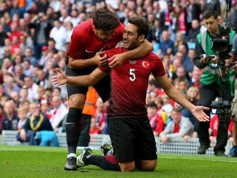 Hakan Calhanoglu makes history by becoming the first Turkey player to score v England