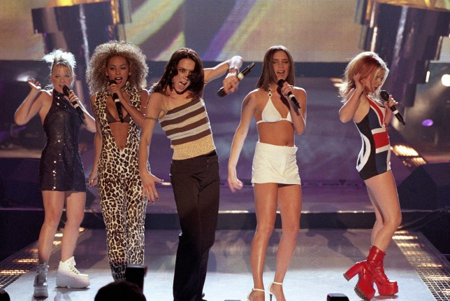 The Spice Girls perform at The Brits (Picture: JMEnternational/Redferns)