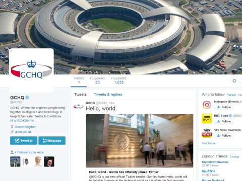 GCHQ join Twitter so people got a bit paranoid