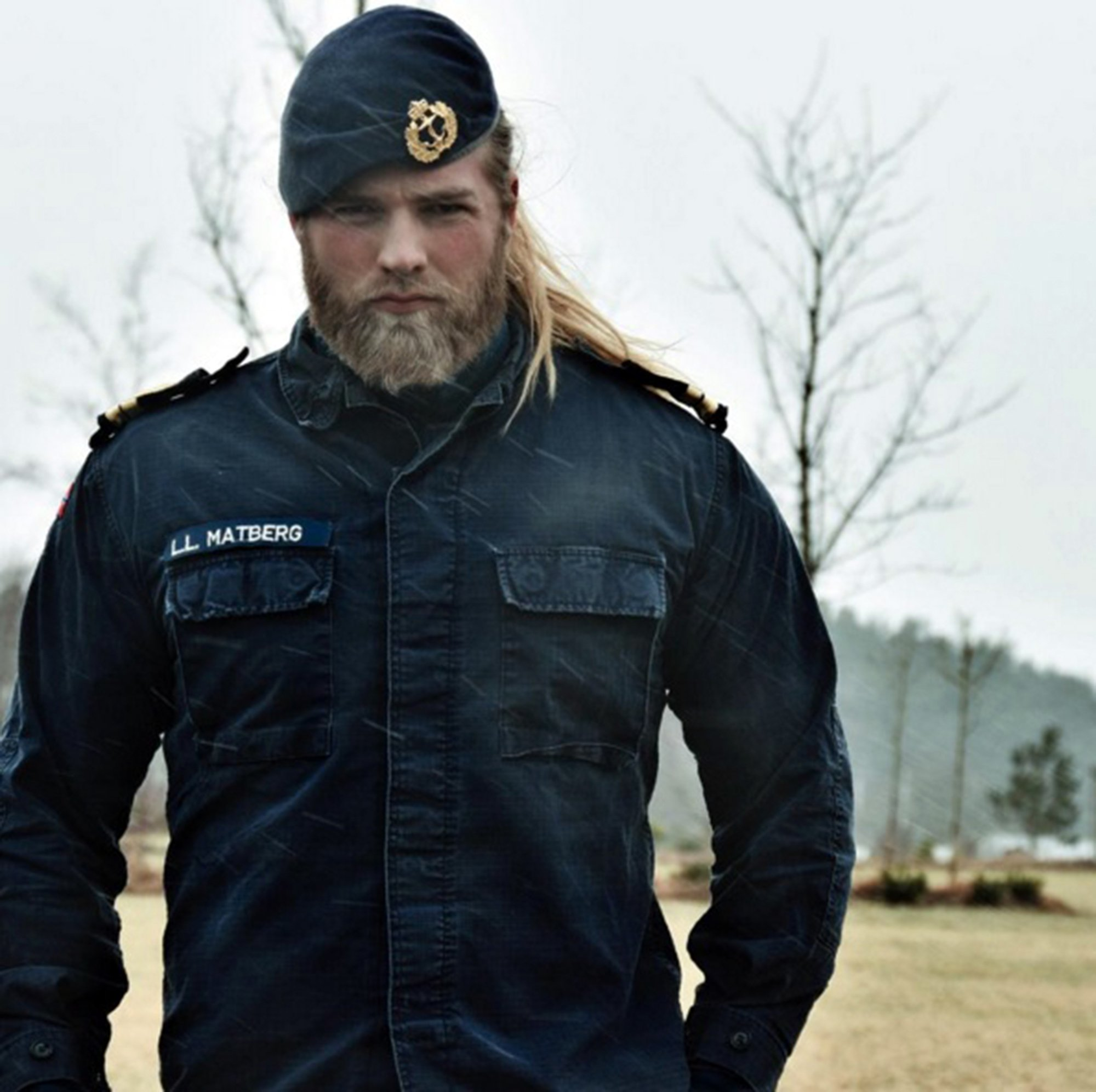 "Pic shows: Lasse Matberg. Meet the modern day Norwegian Viking that is capturing hearts the world over on Instagram. Lasse Matberg, 30, is a Royal Norwegian Navy who would give Thor a run for his money with his beefy build, manly beard and long blonde hair. The modern-day Viking is racking up Instagram followers at an incredible pace. Matberg, from the south-western Norweigan city of Stavenger went from 500 followers to 100,000. His rise in popularity might have something to do with him checking all the boxes in his photos. There is everything from him cuddling a puppy to cutting wood in the forest with the caption: ""Hit the #gym? You mean chopping #wood? #norwegian #lifestylebrand."" And it seems that In short his long blonde hair, love for animals and bulging naturally built muscles are hitting the spot. Matberg recently spoke about the comments he received on his Instagram account. He said:""They want to marry me or ask me to make them pregnant."" User ha_karim wrote: ""You look like an angel."" Whilst rubidiopotasio commented: ""Are you from this world??? You're an Asgardian [an inhabitant of the fictional realm of Asgard from the Marvel Comics universe], aren't you?"" Matberg is the latest sensation being obsessed over by netizens. Other recent targets include convict-turned model Jeremy Meeks and Harry Potter actor who played Neville Longbottom and recently grew quite splendidly out of his awkward puppy fat stage. (ends) ¿¿¿¿¿¿¿¿¿¿"