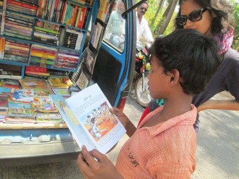 This mobile library is going on a road trip around India to promote reading