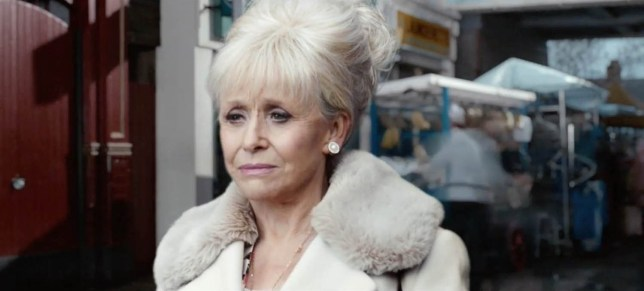 ****Ruckas Videograbs**** (01322) 861777 *IMPORTANT* Please credit the BBC for this picture. 06/05/16 Grabs from a new promo which teases Peggy Mitchell's last goodbye in Eastenders. The promo, which see's Peggy (Barbara Windsor) walking through Albert Square and watching how some of the residents have changed before she see's her on-screen sons Phil and Grant (Steve McFadden and Ross Kemp) outside the Queen Vic pub. Office (UK) : 01322 861777 Mobile (UK) : 07742 164 106 **IMPORTANT - PLEASE READ** The video grabs supplied by Ruckas Pictures always remain the copyright of the programme makers, we provide a service to purely capture and supply the images to the client, securing the copyright of the images will always remain the responsibility of the publisher at all times. Standard terms, conditions & minimum fees apply to our videograbs unless varied by agreement prior to publication.