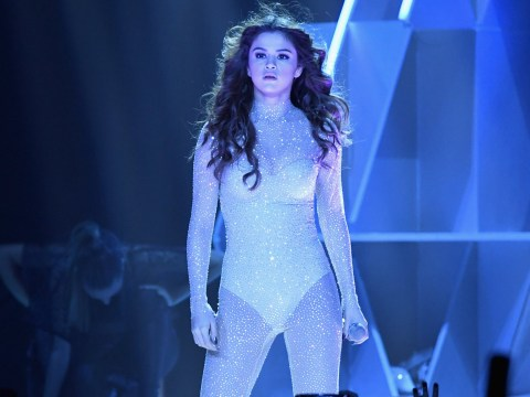 Selena Gomez slays on the first night of her tour – in a spangly body suit, natch