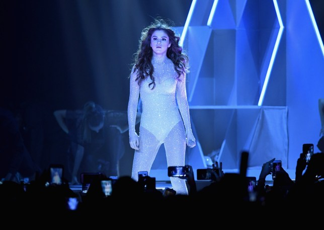 LAS VEGAS, NV - MAY 06: Recording artist Selena Gomez performs during opening night of the Selena Gomez 'Revival World Tour' at the Mandalay Bay Events Center on May 06, 2016 in Las Vegas, Nevada. (Photo by Denise Truscello/WireImage)