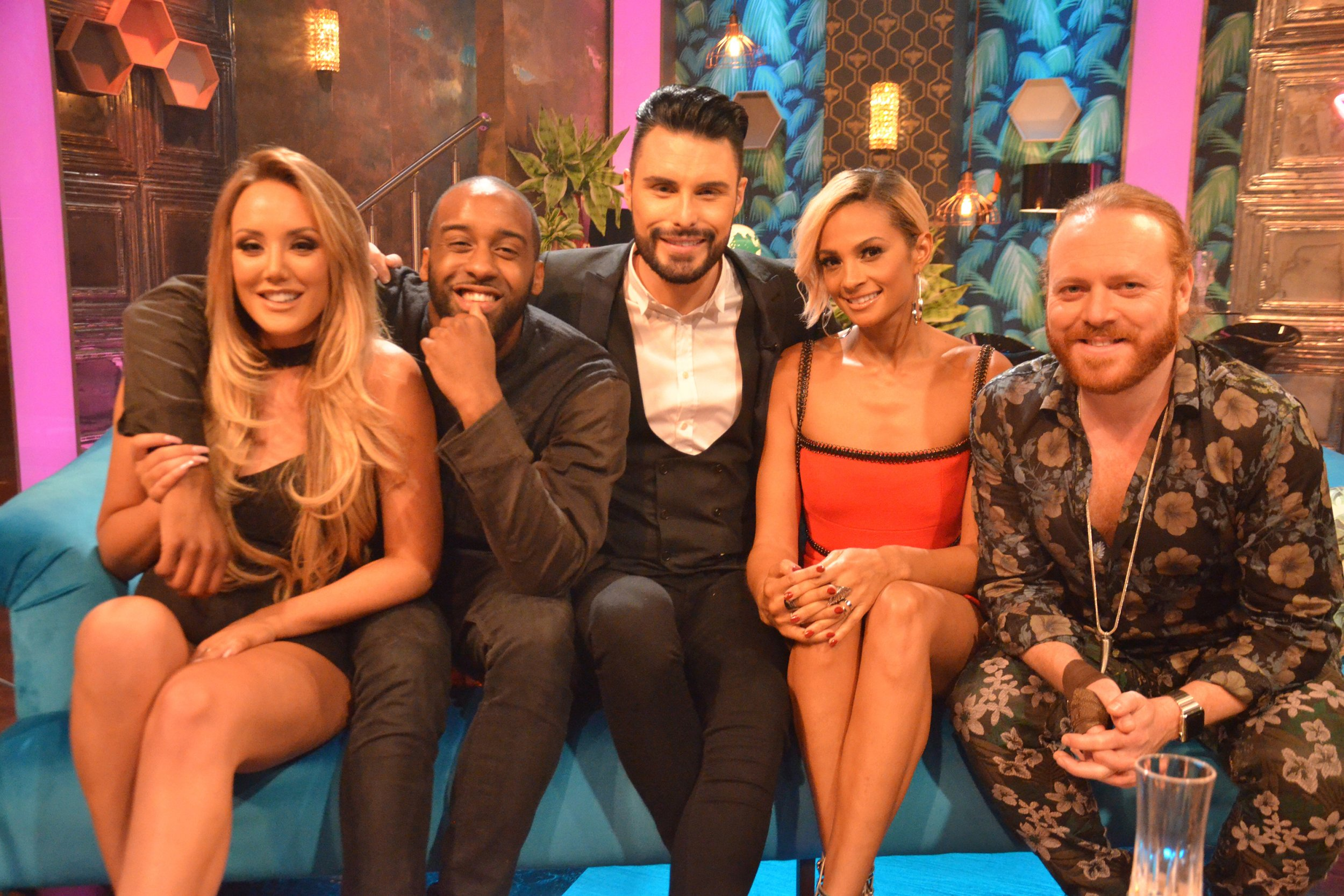 'Up Late With Rylan' Episode 1 guest starring Alesha Dixon, Keith Lemon and Charlotte Crosby. Shown on channel 5. Featuring: Charlotte Crosby, Rylan Clark, Keith Lemon, Leigh Francis, Alesha Dixon Where: London, United Kingdom When: 09 May 2016 Credit: Supplied by WENN.com **WENN does not claim any ownership including but not limited to Copyright, License in attached material. Fees charged by WENN are for WENN's services only, do not, nor are they intended to, convey to the user any ownership of Copyright, License in material. By publishing this material you expressly agree to indemnify, to hold WENN, its directors, shareholders, employees harmless from any loss, claims, damages, demands, expenses (including legal fees), any causes of action, allegation against WENN arising out of, connected in any way with publication of the material.**