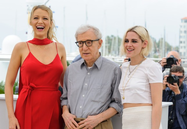 Mandatory Credit: Photo by James McCauley/REX/Shutterstock (5682664d) Blake Lively, Woody Allen and Kirsten Dunst 'Cafe Society' photocall, 69th Cannes Film Festival, France - 11 May 2016