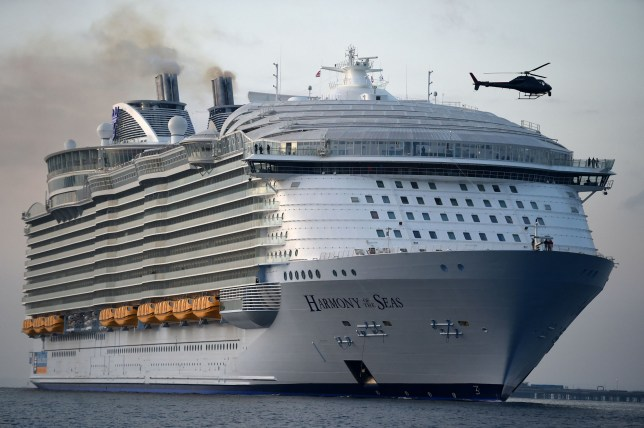 Massive cruise ship