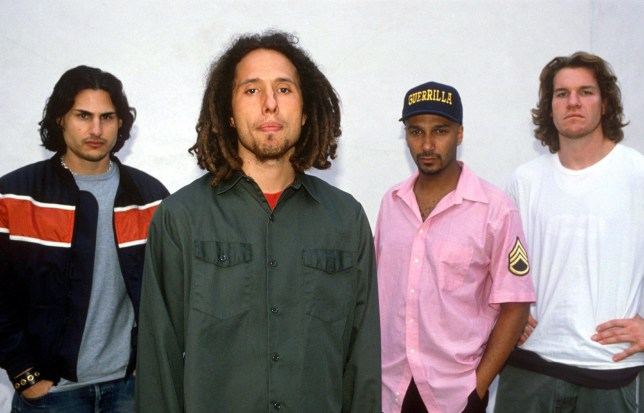 A photo of Rage Against The Machine in 1999
