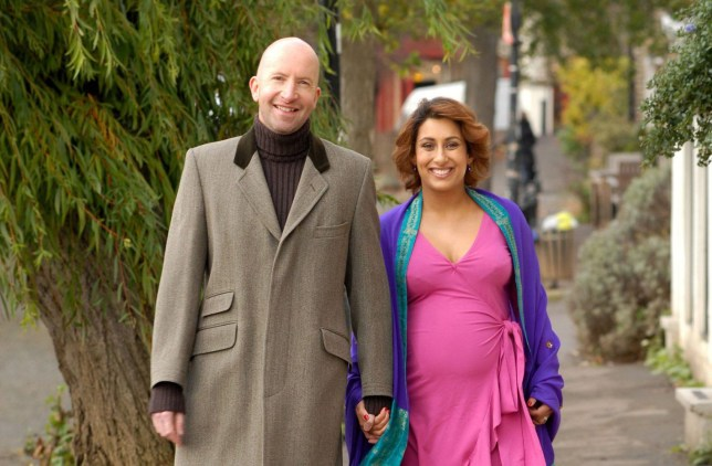 Mandatory Credit: Photo by Mike Lawn/REX/Shutterstock (748195c)nSaira Khan and husband Steve Hyden'The Apprentice' star Saira Khan and husband Steve Hyde - Nov 2007nSaira Khan, runner-up on the first UK series of reality TV show The Apprentice - Pregnant with their first child, expected in Apr 2008n
