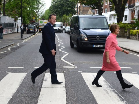 David Cameron recreated the Beatles' Abbey Road cover and everyone is cringing