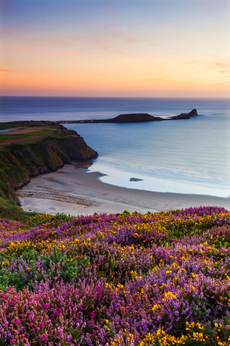 Rhossili Bay, Worms End, Gower Peninsula, Wales, United Kingdom, Europe beaches for bank holiday