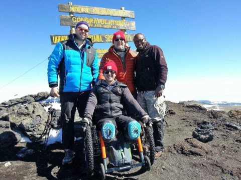 Paralympian becomes first man to scale Mt Kilimanjaro in wheelchair