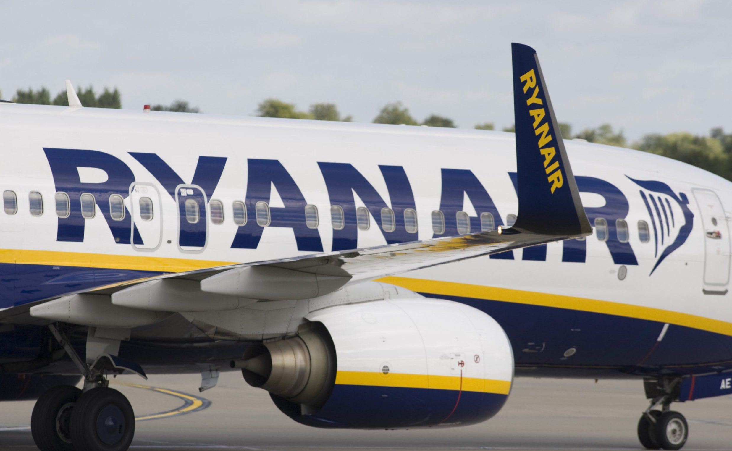 Mandatory Credit: Photo by REX/Shutterstock (1279394x)nA Ryanair aeroplane stands on the runway at Stansted airport, BritainnVariousnn