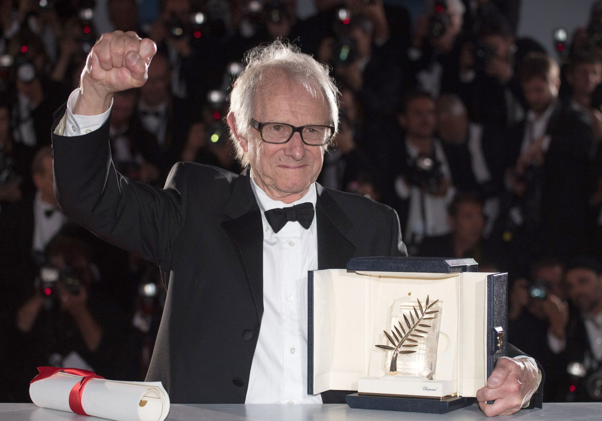 69th Cannes Film Festival - Award Winners - Photocall Featuring: Ken Loach Where: Cannes, France When: 22 May 2016 Credit: WENN.com **Not available for publication in France. No Contact Music.**
