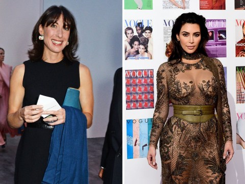 Kim Kardashian doesn't know who Samantha Cameron is, despite being related