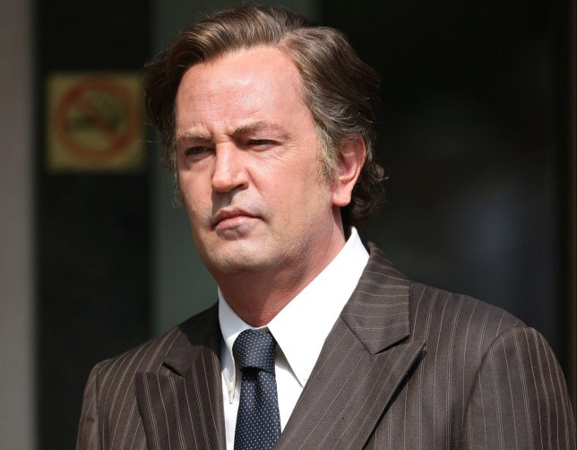 Matthew Perry films scenes as Ted Kennedy on the set of The Kennedys: After Camelot filming in Toronto, Canada. <P> Pictured: Matthew Perry <B>Ref: SPL1292240 270516 </B><BR /> Picture by: Macca / Splash News<BR /> </P><P> <B>Splash News and Pictures</B><BR /> Los Angeles: 310-821-2666<BR /> New York: 212-619-2666<BR /> London: 870-934-2666<BR /> photodesk@splashnews.com<BR /> </P>