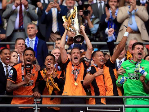 Arsenal loanee Chuba Akpom mocked for celebrations as Hull are promoted to Premier League