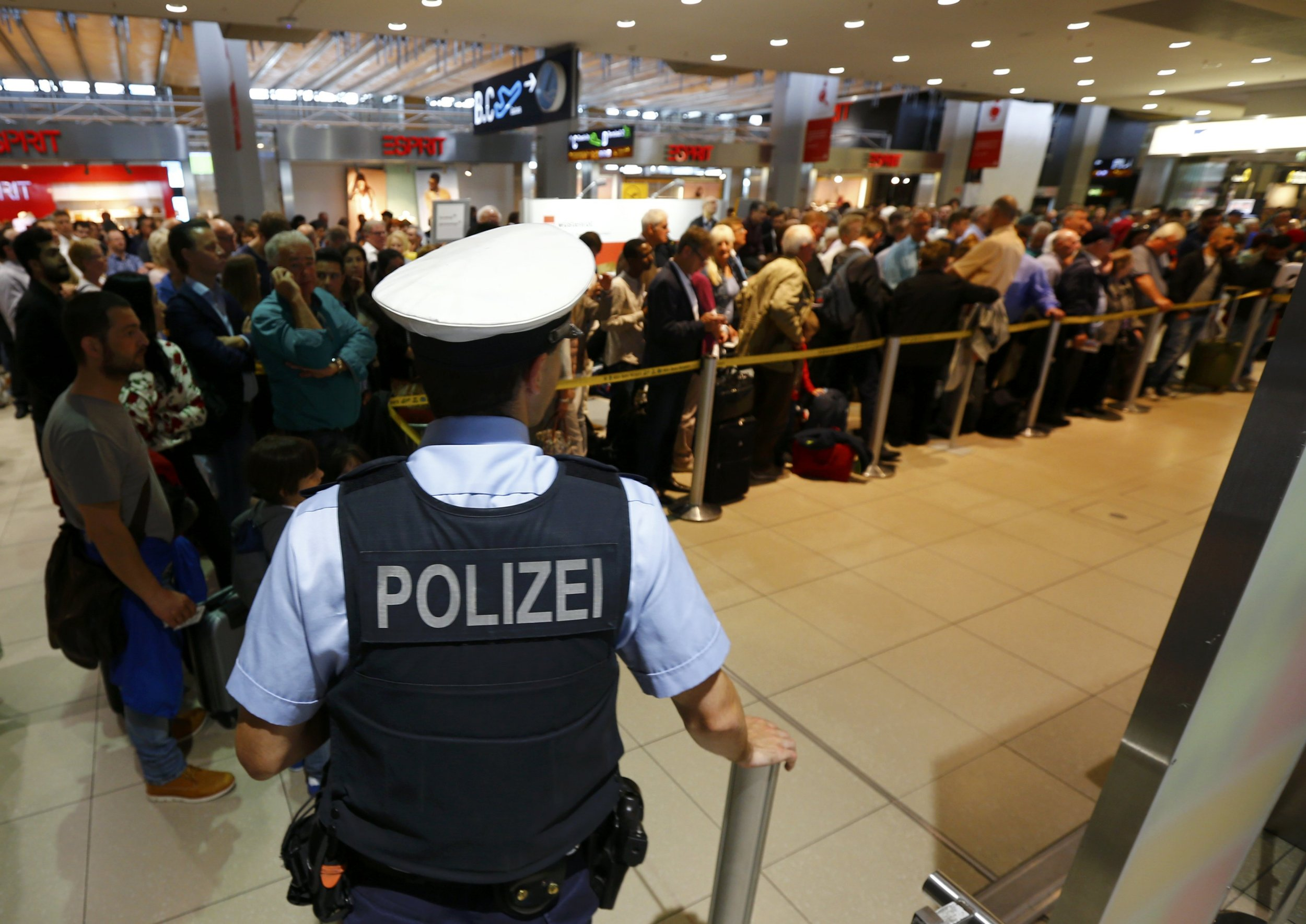 Flights grounded at Cologne airport after 'man breaches security'
