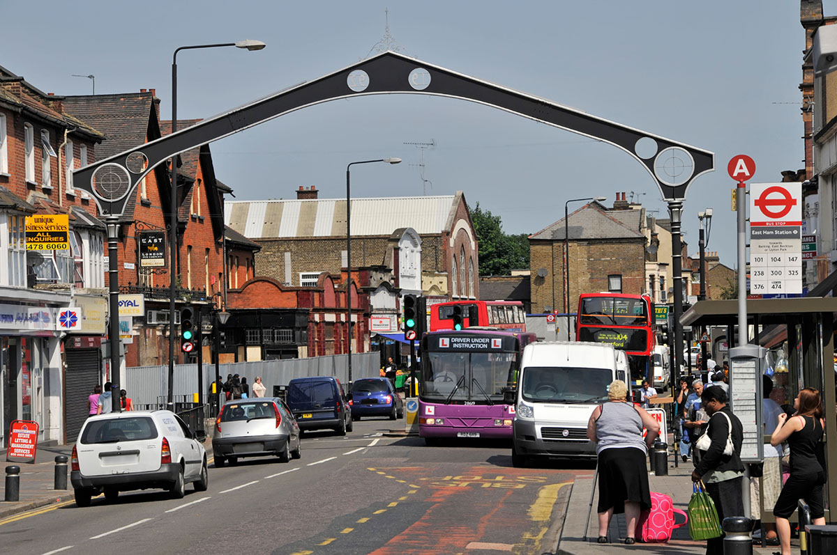 Shoppers on East Ham high street in Newham (Picture: Alamy)