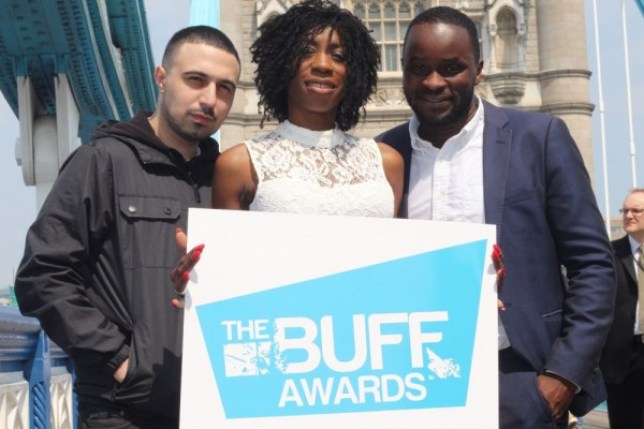 The Buff awards will be presented by Adam Deacon (L) and Femi Oyeniran (F-R), with Heather Small providing entertainment (Picture: Buff)