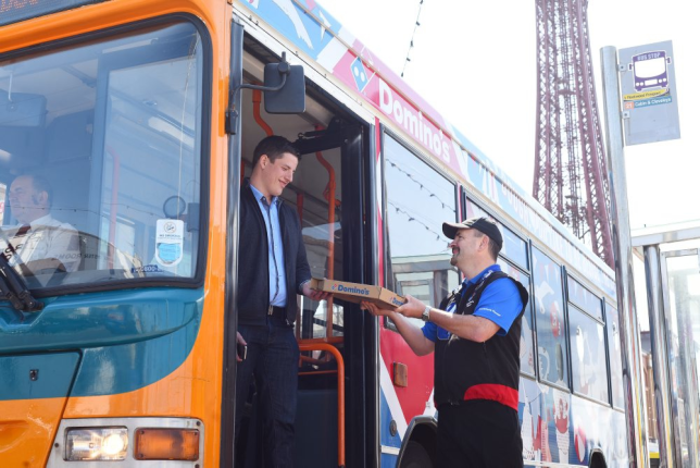 Dominos Trialling Pizza Delivery On Bus Route From Mereside